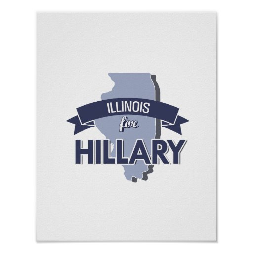 ILLINOIS PARA HILLARY - .PNG PÓSTER
