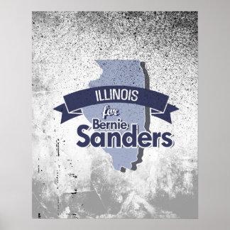 Illinois para las chorreadoras de Bernie Póster