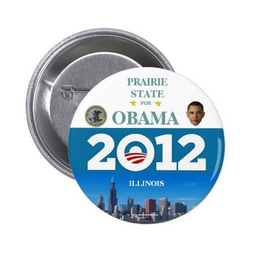 ILLINOIS PARA OBAMA EN 2012 PIN