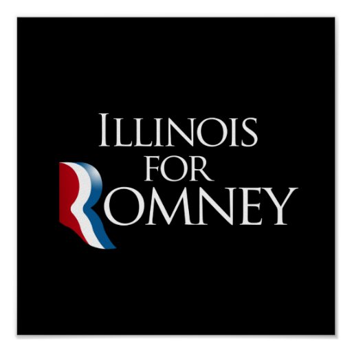 Illinois para Romney.png Póster