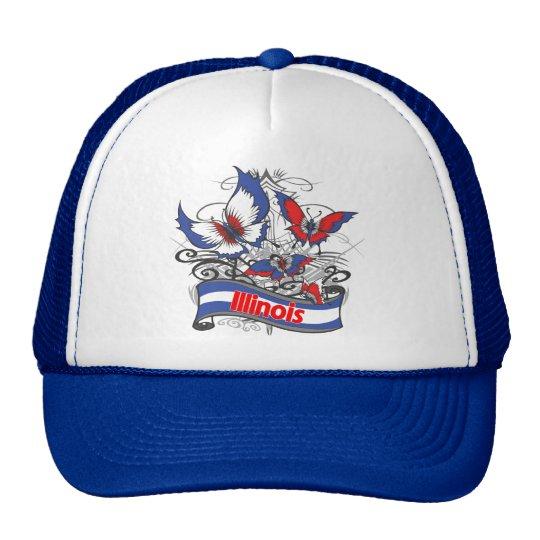 Illinois Patriotism Butterfly Trucker Hat