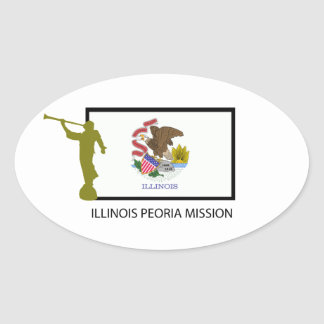 ILLINOIS PEORIA MISSION LDS CTR OVAL STICKER