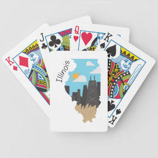 Illinois Bicycle Playing Cards