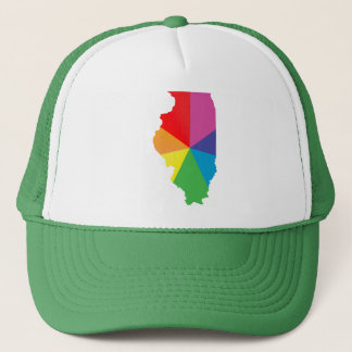 illinois pride. angled. trucker hat