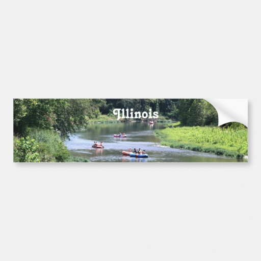 Illinois Rafting Bumper Stickers