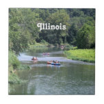 Illinois Rafting Small Square Tile
