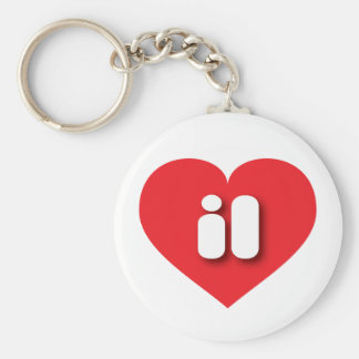 illinois red heart - mini love keychain
