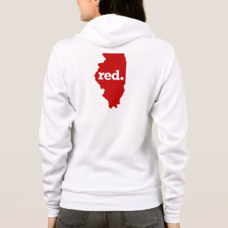 ILLINOIS RED STATE HOODIE