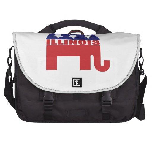 Illinois Republican Elephant Laptop Commuter Bag