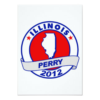 Illinois Rick Perry Invitación 12,7 X 17,8 Cm