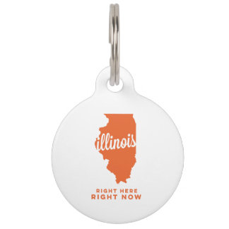 illinois   right here, right now   orange pet ID tag