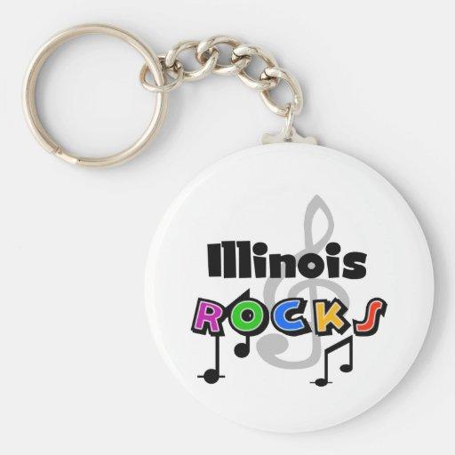Illinois Rocks Key Chains