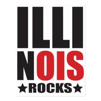 illinois Rocks! State Spirit Apparel Postcard