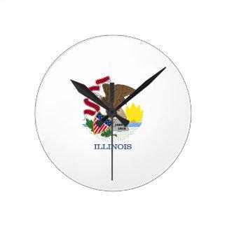 Illinois Round Clock