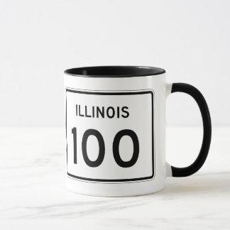 Illinois Route 100 Mug