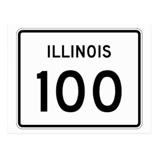 Illinois Route 100 Postcard