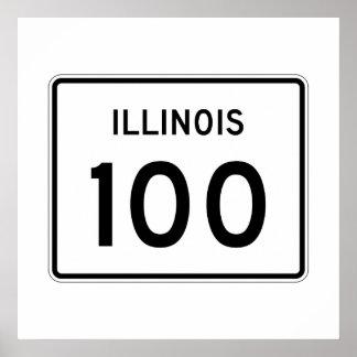 Illinois Route 100 Poster