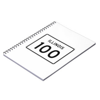 Illinois Route 100 Spiral Notebook