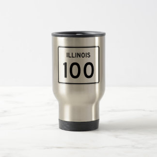 Illinois Route 100 Travel Mug
