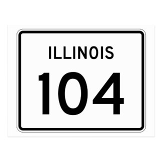 Illinois Route 104 Postcard