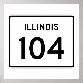 Illinois Route 104 Poster