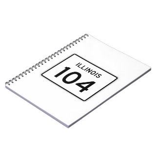 Illinois Route 104 Spiral Notebook