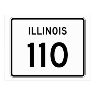 Illinois Route 110 Postcard
