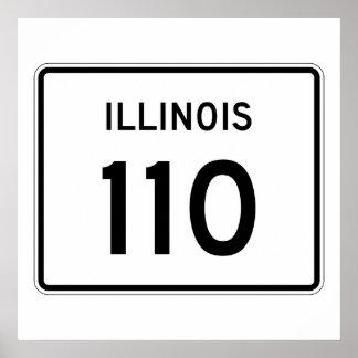 Illinois Route 110 Poster