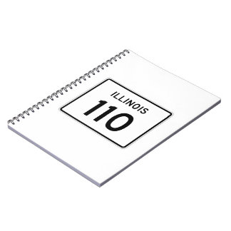 Illinois Route 110 Spiral Notebook