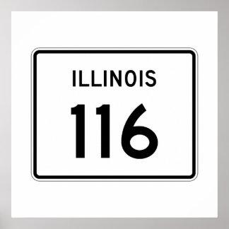 Illinois Route 116 Poster