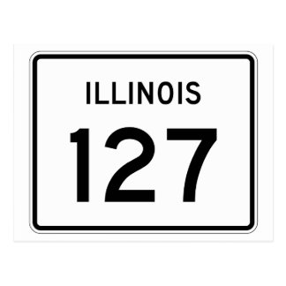 Illinois Route 127 Postcard