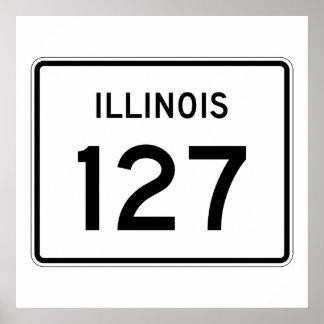 Illinois Route 127 Poster