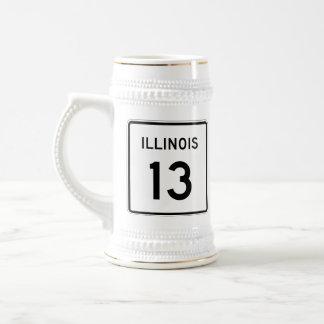 Illinois Route 13 Beer Stein