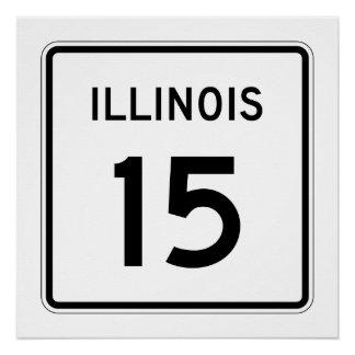 Illinois Route 15 Poster