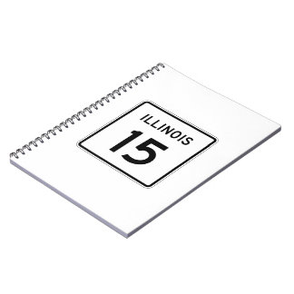 Illinois Route 15 Spiral Notebook