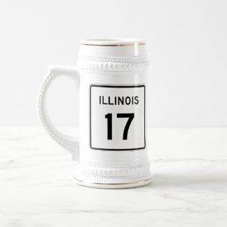 Illinois Route 17 Beer Stein