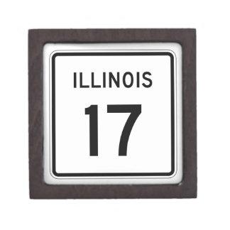 Illinois Route 17 Keepsake Box