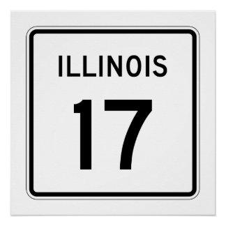 Illinois Route 17 Poster