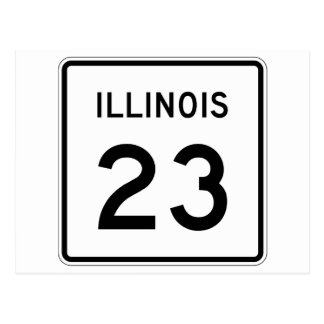 Illinois Route 23 Postcard