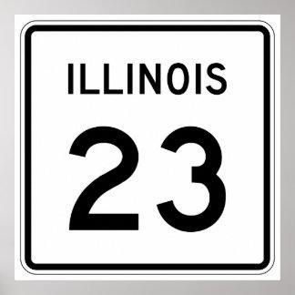 Illinois Route 23 Poster
