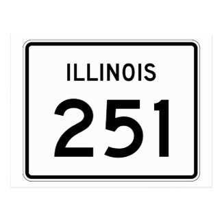 Illinois Route 251 Postcard