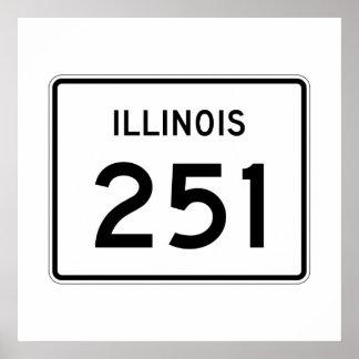 Illinois Route 251 Poster