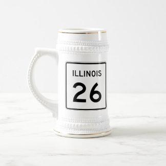 Illinois Route 26 Beer Stein