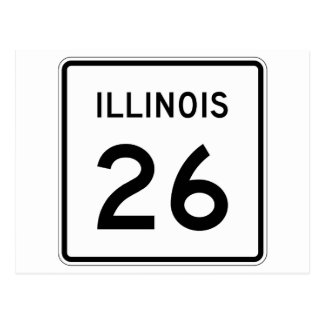 Illinois Route 26 Postcard