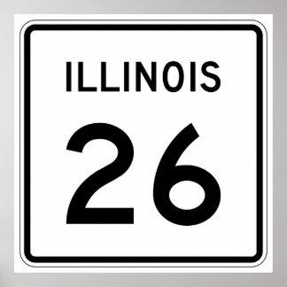 Illinois Route 26 Poster