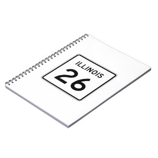 Illinois Route 26 Spiral Notebook
