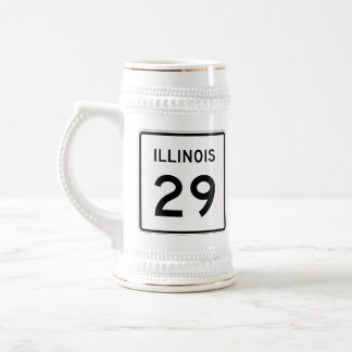 Illinois Route 29 Beer Stein
