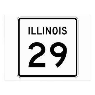 Illinois Route 29 Postcard