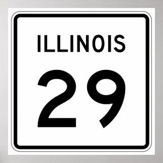 Illinois Route 29 Poster