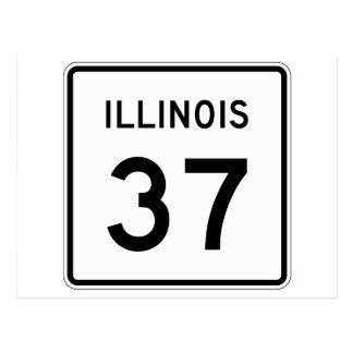 Illinois Route 37 Postcard